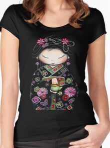 Little Green Teapot TShirt by Karin Taylor Women's Fitted Scoop T-Shirt