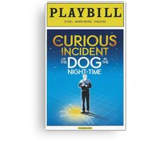 Playbill for Curious Incident of the Dog in the Night time Canvas Print