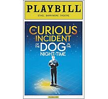 Playbill for Curious Incident of the Dog in the Night time Photographic Print