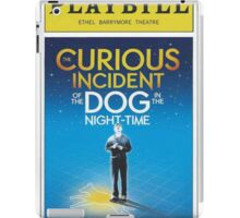 Playbill for Curious Incident of the Dog in the Night time iPad Case/Skin