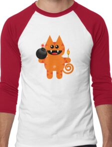 KAT 4 (Cute pet has a bomb and its alight!) Men's Baseball ¾ T-Shirt