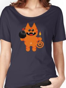 KAT 4 (Cute pet has a bomb and its alight!) Women's Relaxed Fit T-Shirt