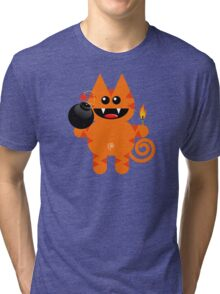 KAT 4 (Cute pet has a bomb and its alight!) Tri-blend T-Shirt