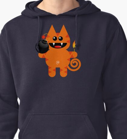 KAT 4 (Cute pet has a bomb and its alight!) Pullover Hoodie
