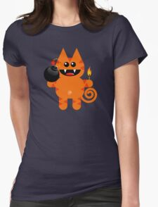 KAT 4 (Cute pet has a bomb and its alight!) Womens Fitted T-Shirt