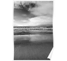Monochrome Seaside Poster