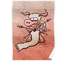 Knitting Sheep Poster