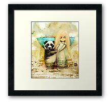 Panda and Snowdrop Framed Print