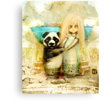 Panda and Snowdrop Canvas Print