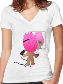 troll doll Women's Fitted V-Neck T-Shirt