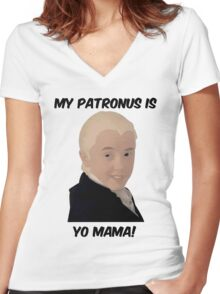Malfoy - My Patronus Is Yo Mama Women's Fitted V-Neck T-Shirt