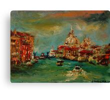 Venice Italy Grand Canal II. Canvas Print