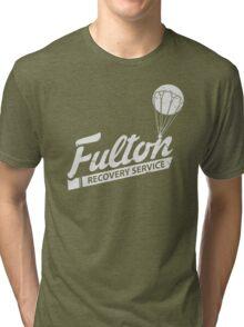 Fulton Recovery Service - White - Damaged Tri-blend T-Shirt