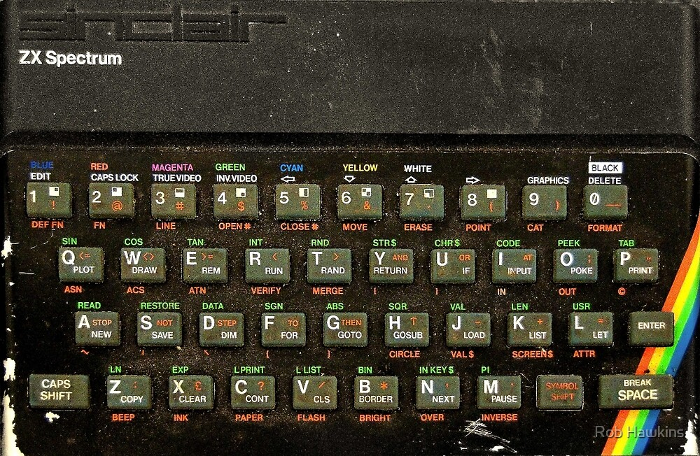 The ZX spectrum by Rob Hawkins