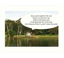 Song & dance pelican Art Print