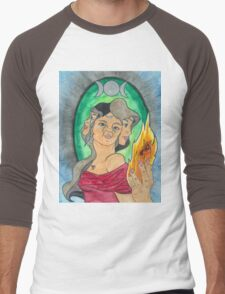 Triple Goddess Men's Baseball ¾ T-Shirt