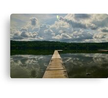 Clouds reflections Canvas Print