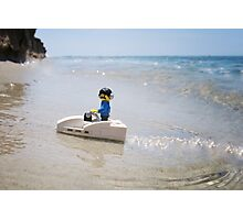 DJ Barnacle chillin' beachside Photographic Print