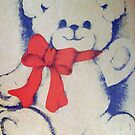 Bear with a bow by Ana Belaj