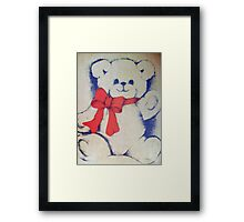 Bear with a bow Framed Print