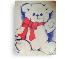 Bear with a bow Canvas Print