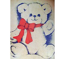 Bear with a bow Photographic Print