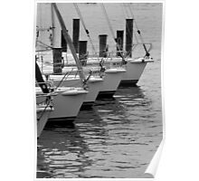 Boats in a row - Annapolis, Maryland Poster