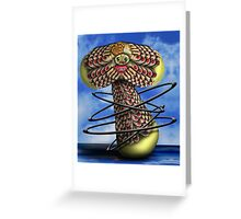 Toes in Black Hula Hoops Greeting Card