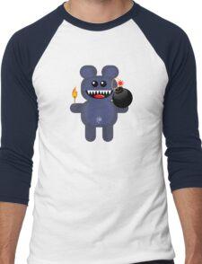 BEAR 4 (Cute pet has a bomb and its alight!) Men's Baseball ¾ T-Shirt