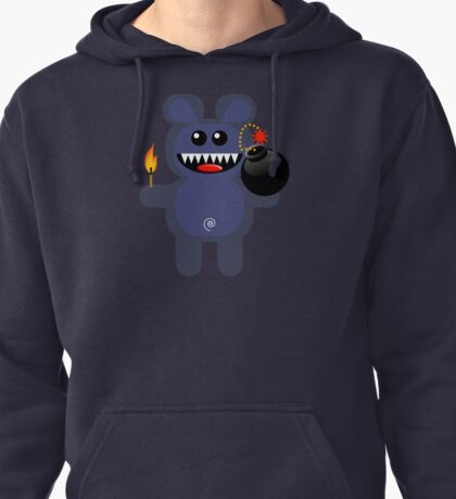 BEAR 4 (Cute pet has a bomb and its alight!) Pullover Hoodie