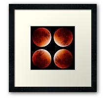 Quadruple Blood Moon Framed Print