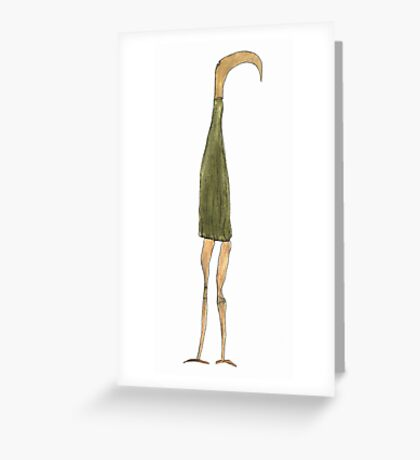 the long-snouted curtain Greeting Card