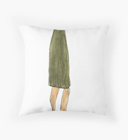 the long-snouted curtain Throw Pillow
