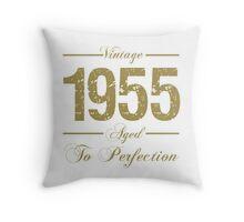 Vintage 1955 Birthday Throw Pillow