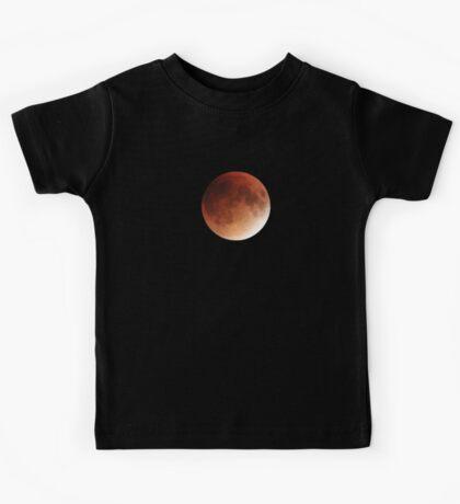 Blood Moon Super Moon Lunar Eclipse with Stars Kids Tee