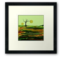 Stratigraphy - Where Moons Are Born Framed Print