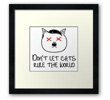 HITLER CAT Framed Print