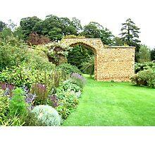 Herb garden  at Broughton Castle Photographic Print