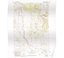 USGS Topo Map Oregon Buck Butte 279170 1985 24000 Poster