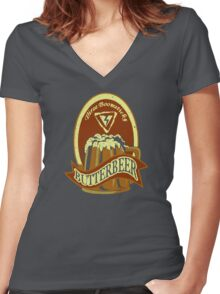 Big Boom Brew Women's Fitted V-Neck T-Shirt