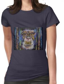 Chimpanzee Womens Fitted T-Shirt