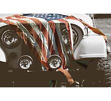 Jeep Bleeding Photographic Print
