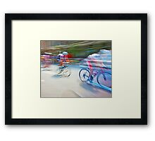 The Bicycle Race 01 Framed Print