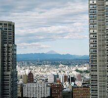 Fuji-San Cityscape  by David Bath