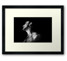Its hard letting go! SP B/W (For Madworld) No 1 of 5. Framed Print
