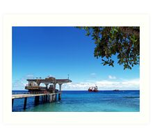 Jetty At Flying Fish Cove Art Print