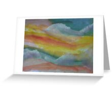 Clouds and sky, watercolor Greeting Card