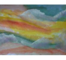 Clouds and sky, watercolor Photographic Print