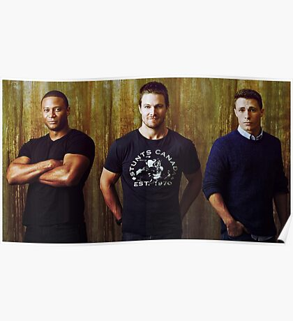 Diggle, Oliver and Roy | Arrow Season 2-3 | Team Arrow Poster