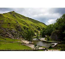 Dovedale Stepping Stones and Thorpe Cloud. Photographic Print